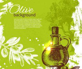 Vivid Olives 5 vector
