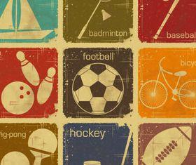 Retro sport labels vector