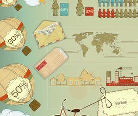 Retro Business infographics vector