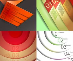 Color Numbered Infographics 1 vector