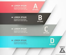 Color Numbered Infographics 3 vector