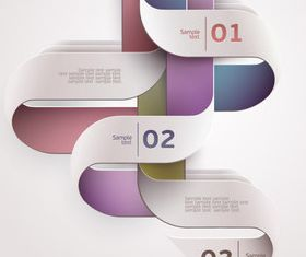 Color Numbered Infographics 6 vector