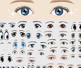 Different Eye design elements vector material