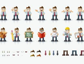 Funny Worker Illustration vector