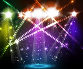 Shiny Stage Lighting vector