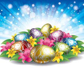 Easter Eggs background art vector design