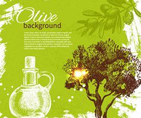 Vivid Olives 3 vector material