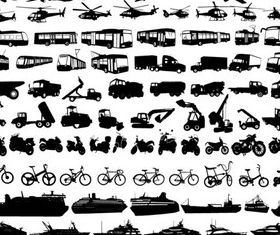 Car icons 4 vector