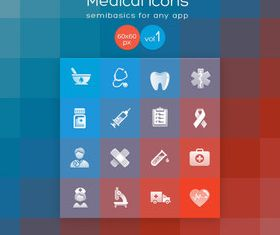 Different Medical icons vector graphic