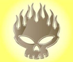 Offspring Skull design vectors