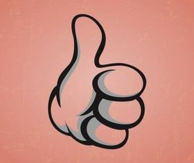 Thumbs Up Hand Illustration vector
