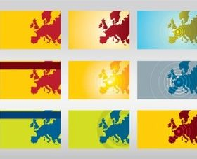 Europe Vector Maps set