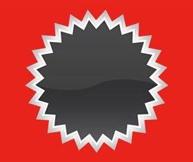 Starburst Sticker vector set
