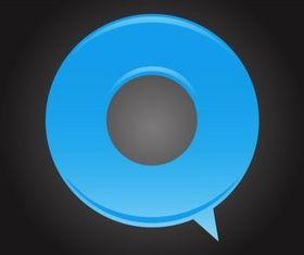 Stylized Speech Bubble vector