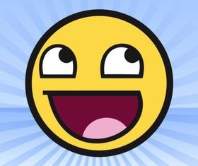 Awesome Face Meme vector
