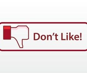 Facebook Dislike Button vectors