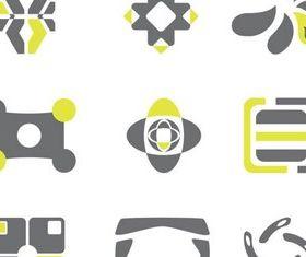 Grey Yellow Logotypes vector