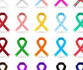 Color Bright Ribbons art vector design