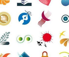 Shiny Abstract Logotypes Illustration vector