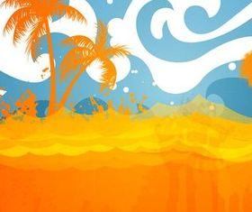 Summer Beach Backgrounds art vector