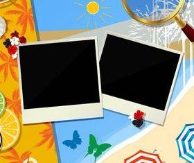 Travel Backgrounds set vector