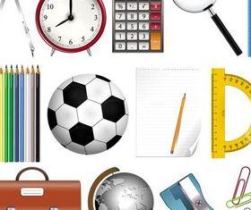 School Accessories creative vector