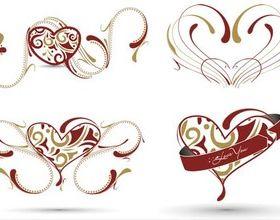 Hearts Elements vector