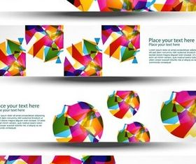 Creative Abstract Banners vector graphic