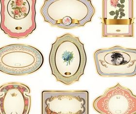 Luxury Golden Labels art vector