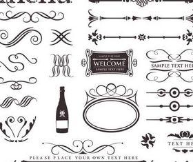 Different Menu Elements art vector graphics