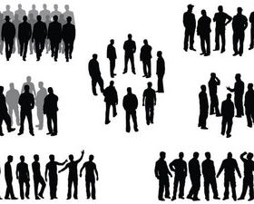 Group people free vector graphics