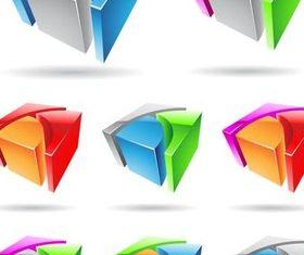 3D Logotypes set vector