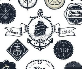 Sailing Labels graphic vectors