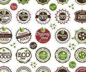 Green Food Labels art vector graphics
