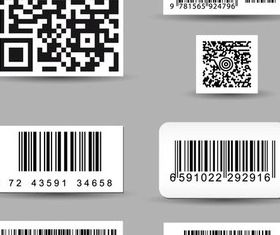 Barcode Stickers Illustration vector