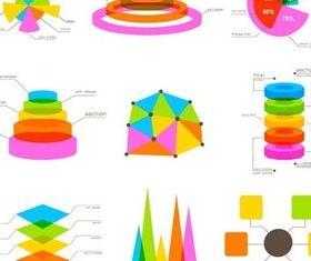 Diagrams Icons free vector