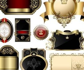 Royal Style Labels vector
