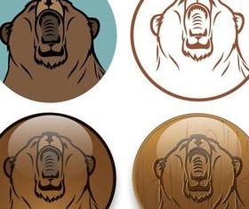 Elements with Grizzly vector graphics