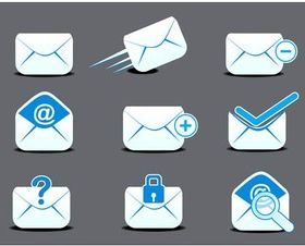 Mail Icons graphic vector