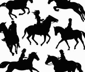 Jockeys free vector