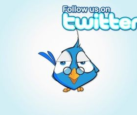 Follow Bird vector