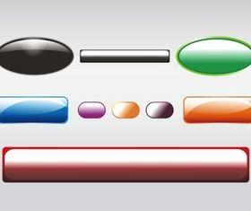 Shiny Buttons Clip Art vector