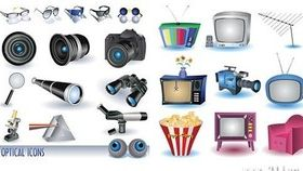 Household appliances and camera vector