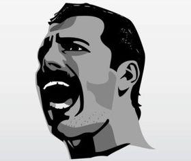 Singing Freddie Mercury vectors material