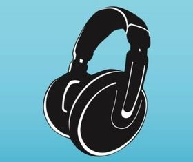Vector Headphones Illustration graphic