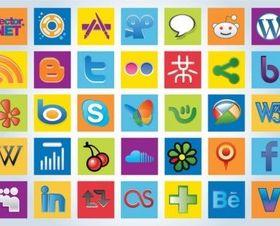 Social Logos vectors graphics