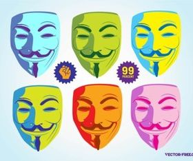 Guy Fawkes Mask design vector