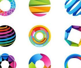 Shiny Round Logotypes art vector