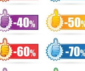 Discount Like Symbols vectors graphics