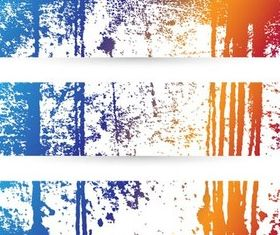 Splash Grunge Banners art vector